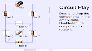 DC Circuit JavaScript Simulation Applet HTML5 by Tan KS - Open